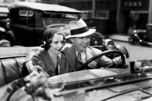 Ben Lyon and Stanwyck in the film's oh-so-perfect ending.