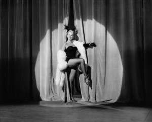 """My favorite scene kicks off with this performance by """"burlesque queen"""" Yvonne LeDoux."""