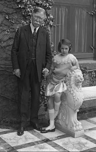 Edward Doheny and his only granddaughter, Lucy.