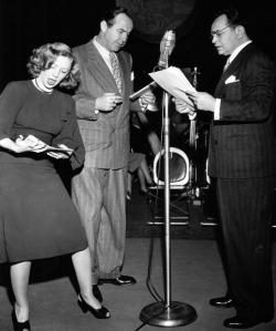 On the radio with Broderick Crawford and Edward G. Robinson.
