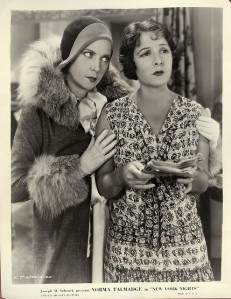 In New York Nights, Lilyan shares her wisdom with Norma Talmadge.