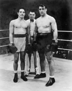 Real-life boxer Primo Carnera (right) claimed the film's story was his own. (And he wasn't happy about it!)