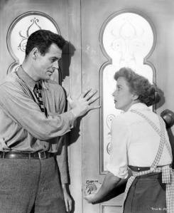 "Lupino is a prisoner in her own home in ""Beware, My Lovely."""