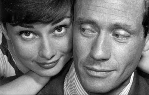 Hepburn and her producer/husband, Mel Ferrer.