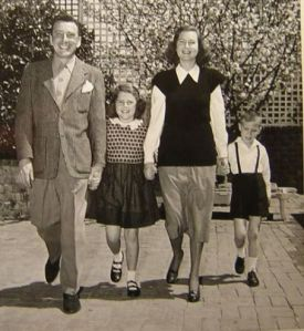 Leon Ames and his family...in simpler times. (Bum bum BUM!!!)