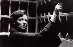 What is Gene Tierney up to? Watch Whirlpool and find out.