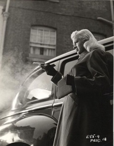 Dors in the opening scene of the film.