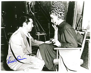 Sherman and Sheridan on the set of the film.