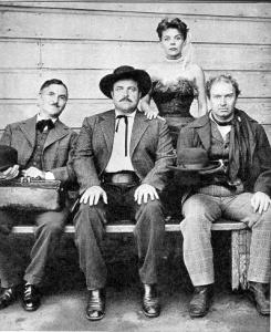Conrad and the cast of the radio version of Gunsmoke.