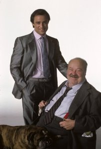 With Joe Penny, Conrad's co-star in Jake and the Fatman.