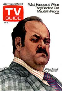 One of Conrad's TV Guide covers as Cannon.