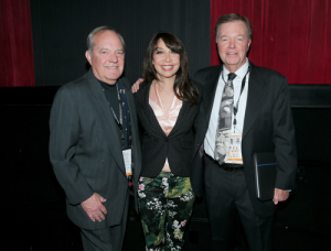 Ron and Allen Fields, W.C.'s grandsons, strike a pose with Illeana Douglas. (Photo courtesy of wcfields.com)