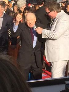 Norman Lloyd (He didn't introduce a film; he just came because he's AWESOME.)