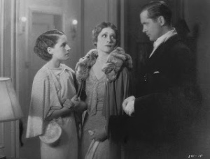 The character played in the film by Irene Rich (center) wasn't in the book at all.