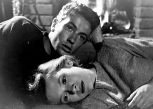 Granger and O'Donnell as the doomed lovers in They Live By Night.